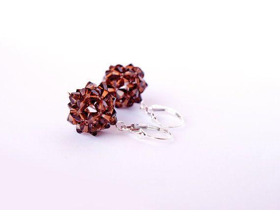 Swarovski Earrings Crystal Earrings Sterling by JewelrybyFlorist, $50.00