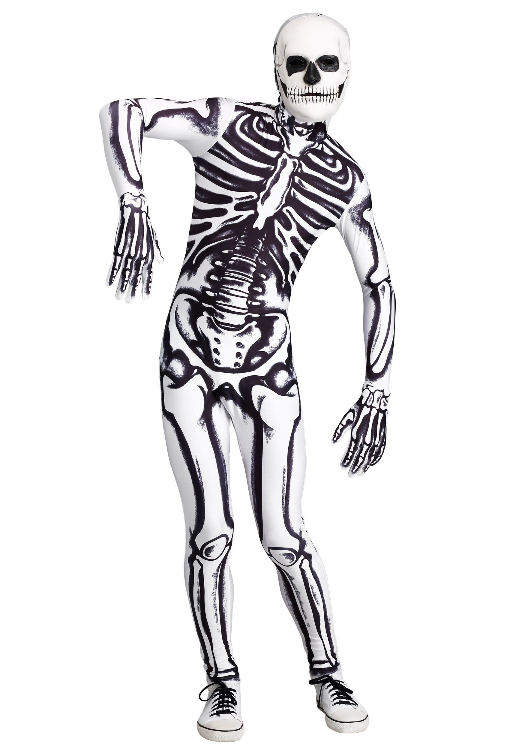 Men's White Skeleton Costume in 2020 (With images) Scary