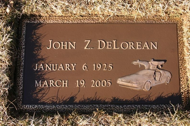 """John  DeLorean (1925 - 2005) Founder of the DeLorean Motor Company and producer of the stainless steel, gull-winged car that bore his name (and was featured in the """"Back to the Future"""" movies), in a famous trial he was acquitted of involvement in a drug dealing scheme to save his company from bankruptcy"""