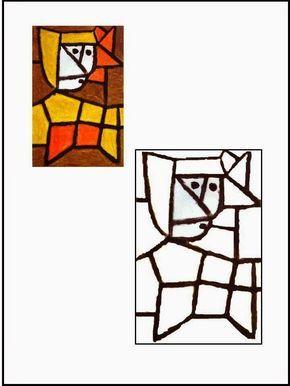 Cuadros de Paul Klee para colorear Landhaus Thomas R ...