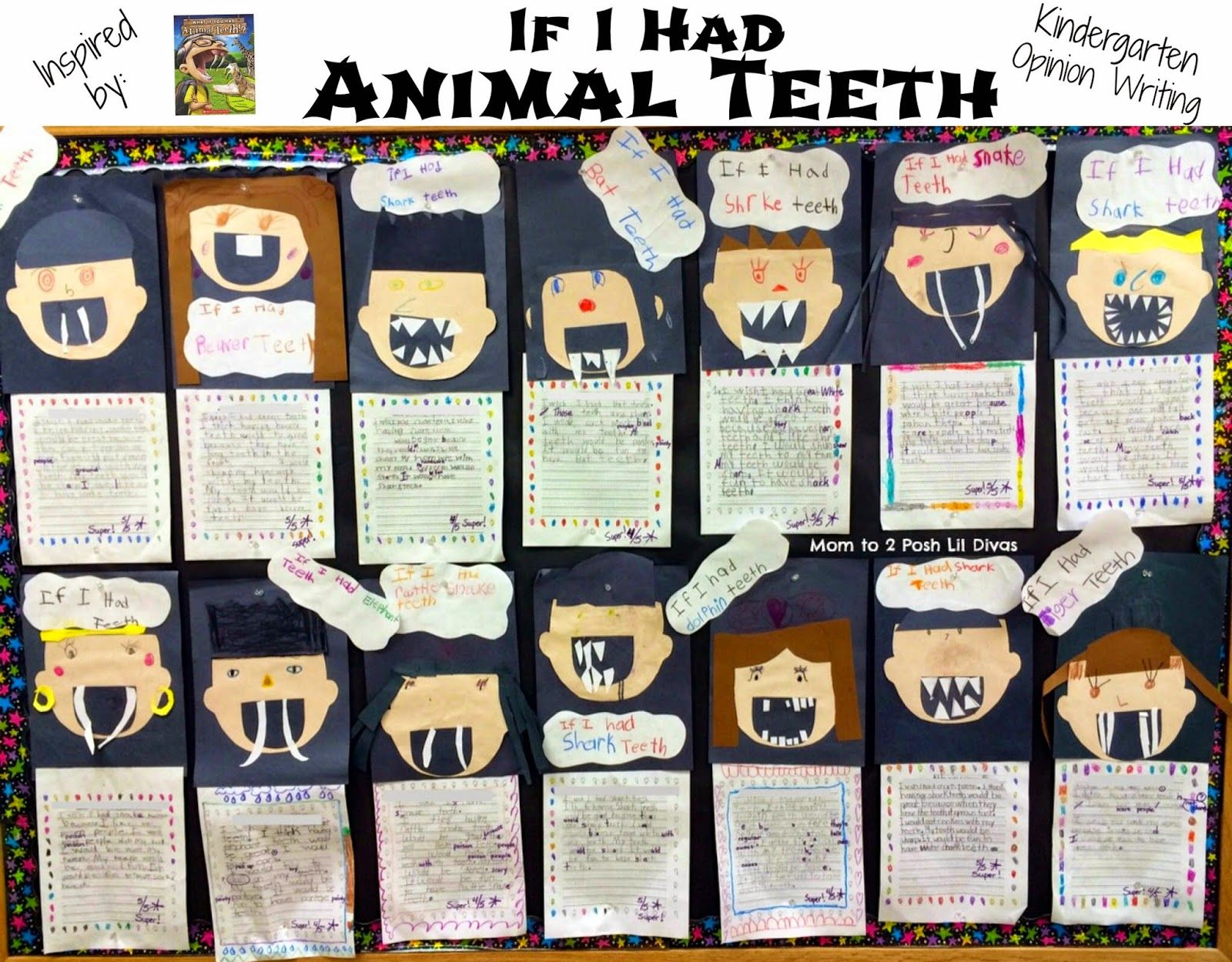 Kindergarten Opinion Writing If I Had Animal Teeth With