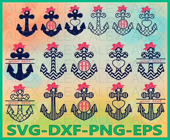 Instant Files Download Svg Png Cut Files Dxf Anchor Pattern Monogram Digital Clipart For Design Anchor Pattern Svg Print Or More Paper Party Kids Craft Supplies Tools