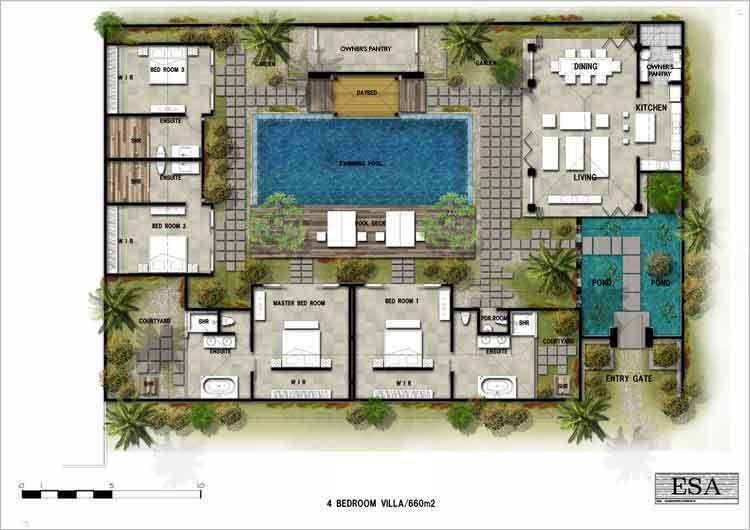 Floorplan Denah Rumah Arsitektur Hijau Arsitektur