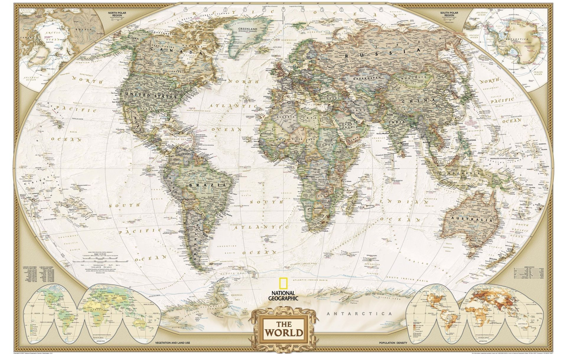 World map world map pinterest wallpaper world executive map antique tones two sizes and spanish available map type enlarged tubed x national geographic maps gumiabroncs Choice Image