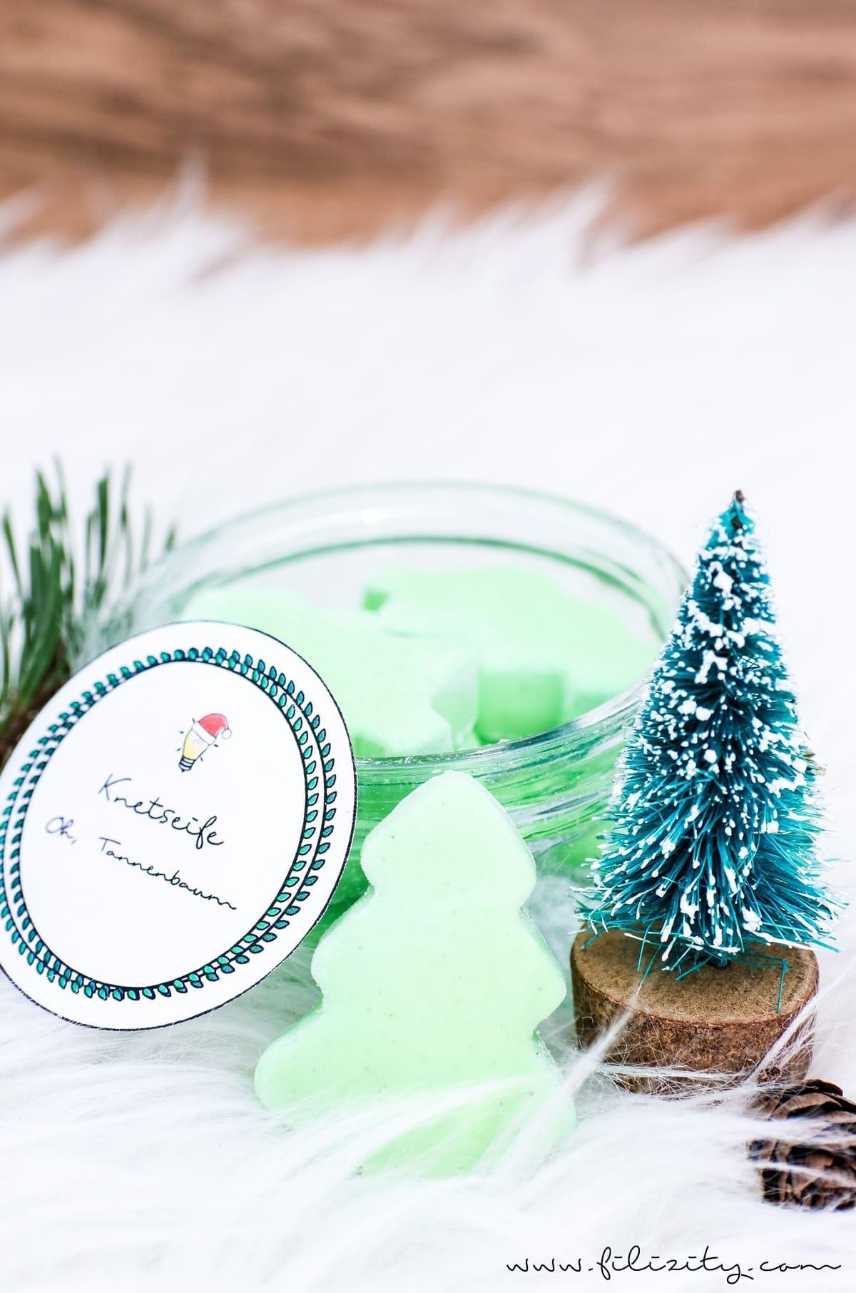 """weihnachtsgeschenkidee diy knetseife """"tannenbaum"""" selber"""