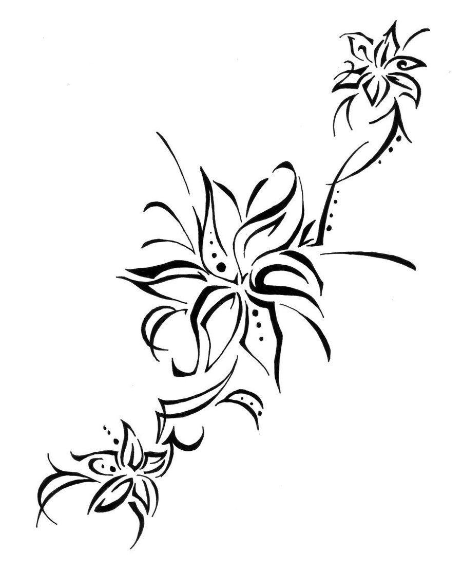 Lily flower tattoo drawing google search new tattoo pinterest lily flower tattoo drawing google search izmirmasajfo