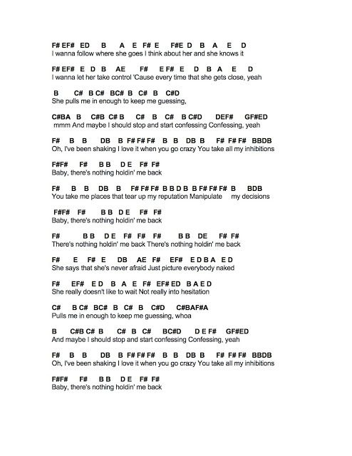 Flute Sheet Music There S Nothing Holding Me Back Flute Sheet Music Music Chords Easy Sheet Music