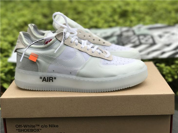 ... 2019 sneaker a7bba ee28b OFF-WHITE x Nike Air Force 1 Low White  Collaboration ...