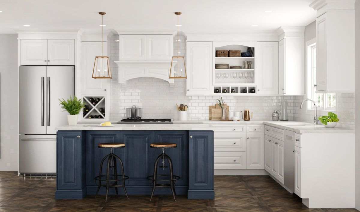 Concord Park Avenue Ocean Blue Kitchen Cabinet Styles Blue Kitchen Cabinets Kitchen And Bath Design