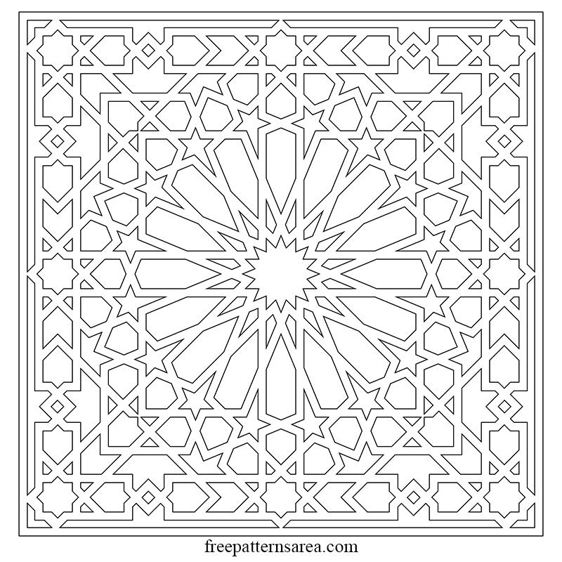Islamic Arabesque Geometric Art Vector Pattern Freepatternsarea Islamic Art Pattern Pattern Art Islamic Design Pattern