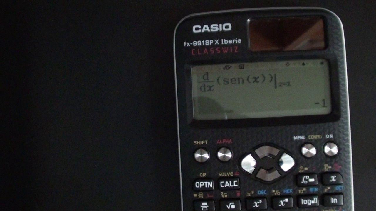23d731bf7b2f Derivadas e integrales con la calculadora Casio FX-991 Classwiz ...
