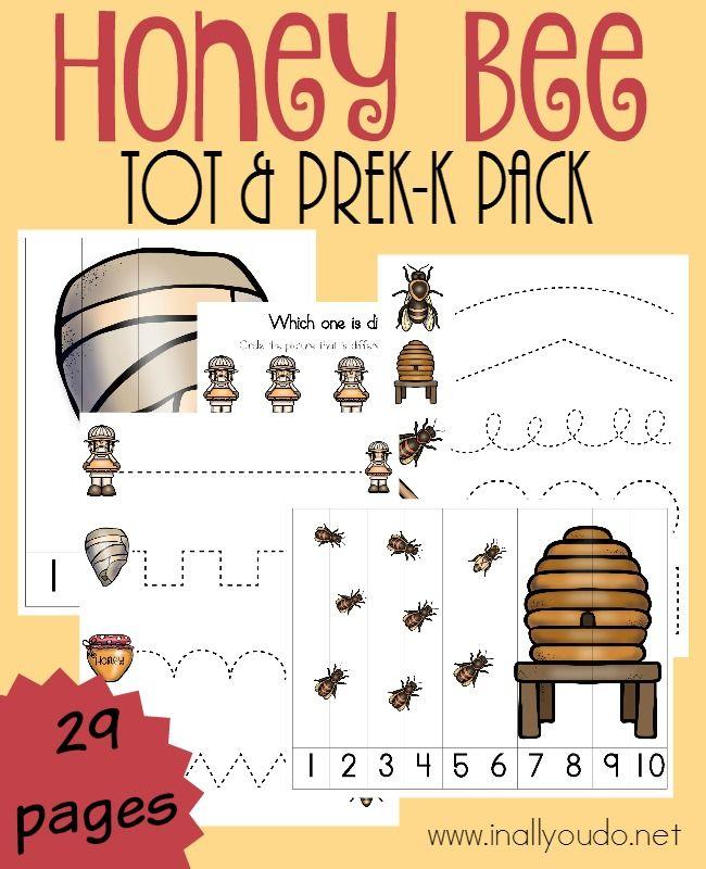 Honeypot Preschool: Honey Bee Tot & PreK-K Pack