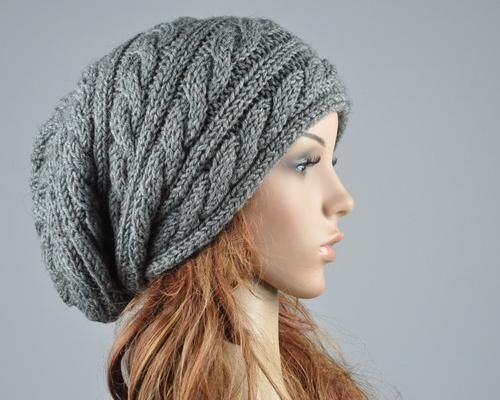 Please search cute slouchy beanie hand knit hat charcoal hat knitting patterns dt1010fo