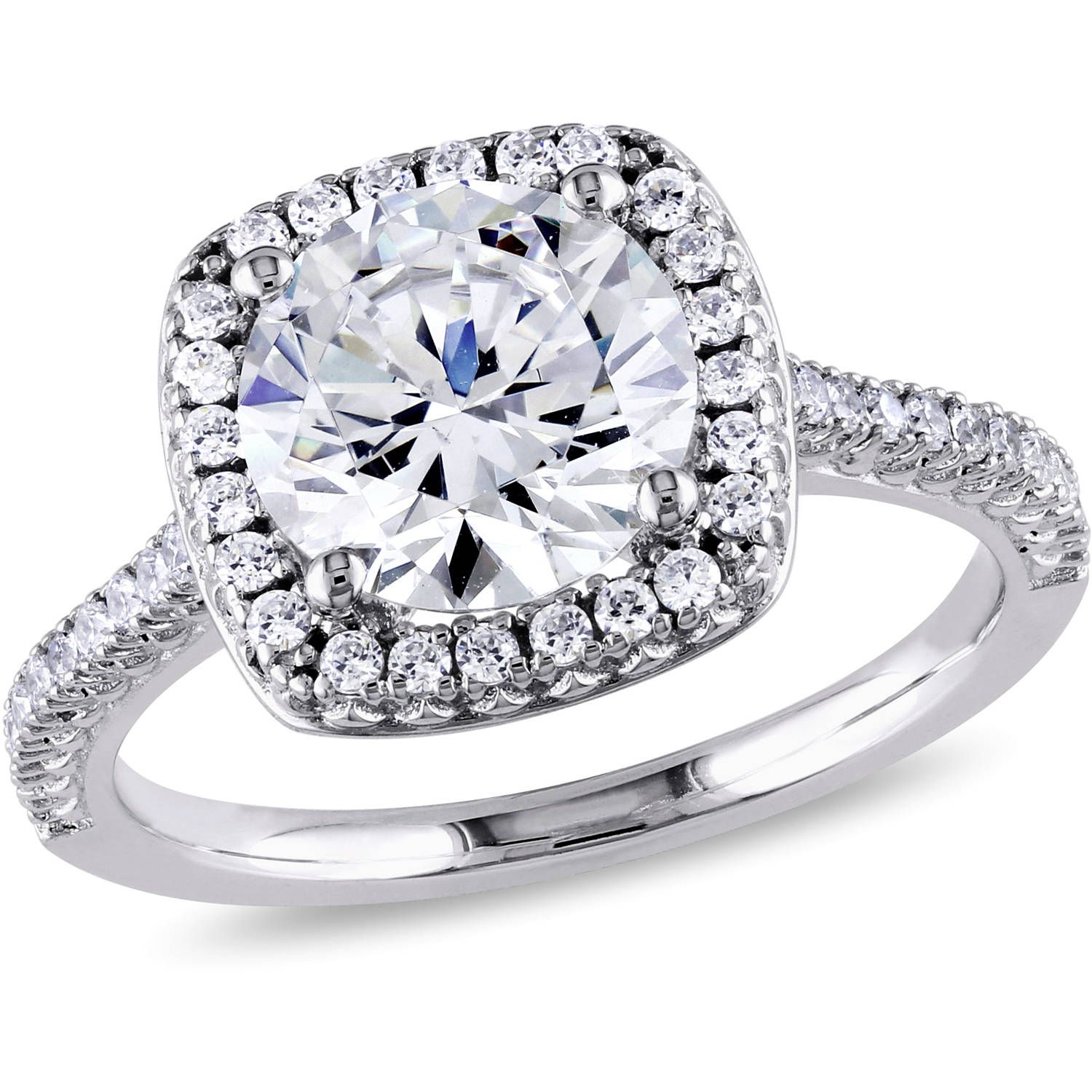 Jewelry Cubic zirconia engagement rings, White gold