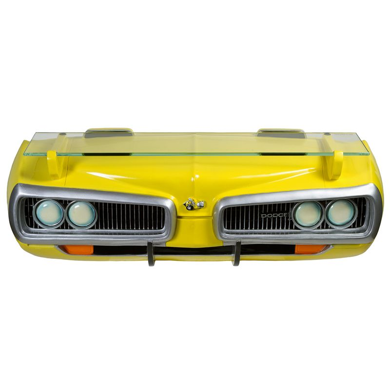 """Super Bee Wall Shelf - Available at: http://bit.ly/yI3dLs    Now that's a conversation piece! This custom designed wall shelf is a classic, one-of-a-kind, accessory any Mopar enthusiast will want to hang on their wall. Front end grill design with a glass shelf to house a range of items consisting of collectibles, a photo frame, diecast, etc. Limited quantity while supplies last. Approximate Size: 19"""" x 6"""" x 6"""""""