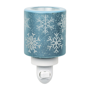 COMING SOON! Falling Snowflakes Scentsy Warmer abounds with glistening…