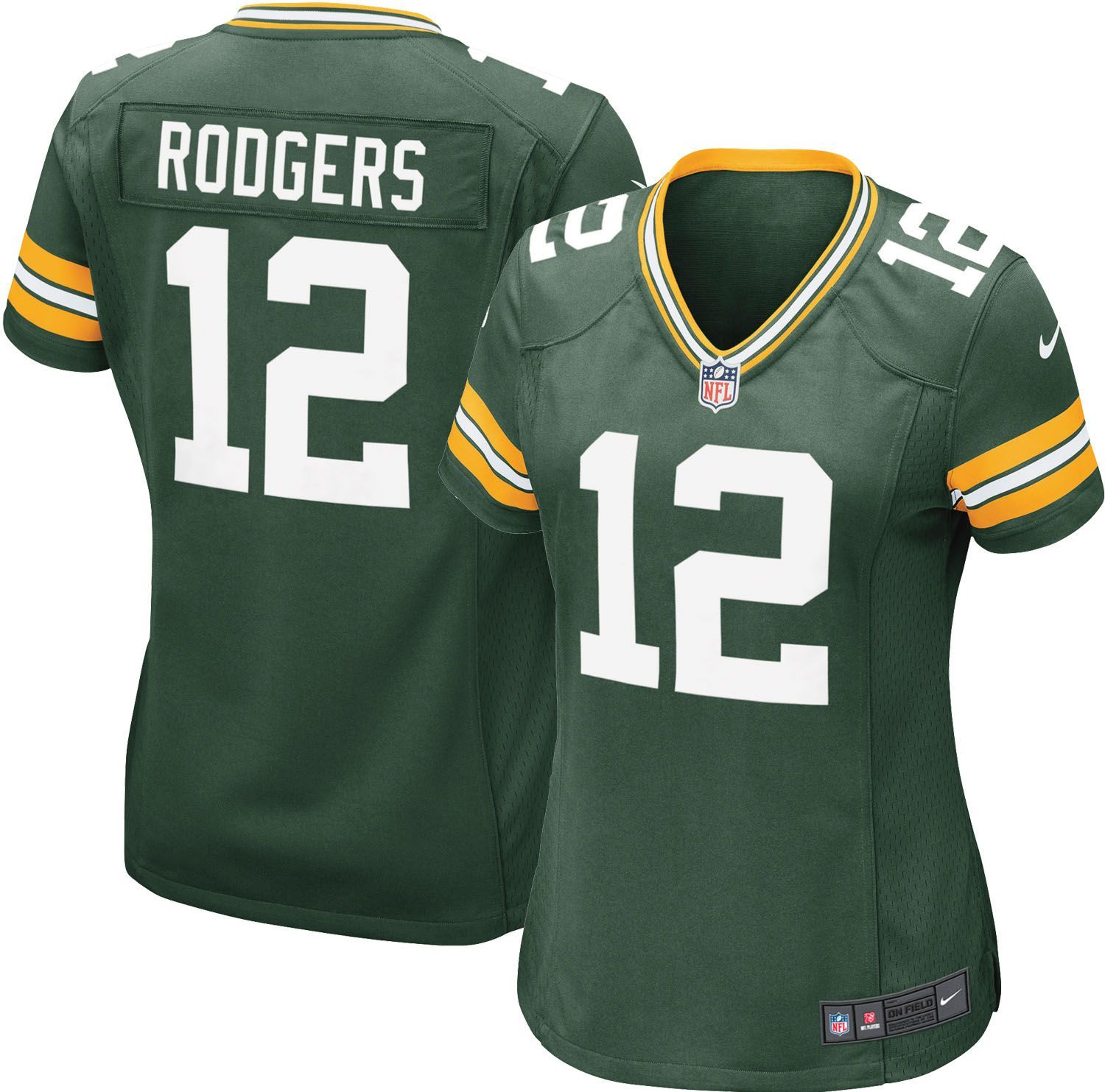 Nike Women S Home Game Jersey Green Bay Packers Aaron Rodgers 12 Green Bay Packers Jerseys Nfl Jerseys Nfl Jerseys For Sale
