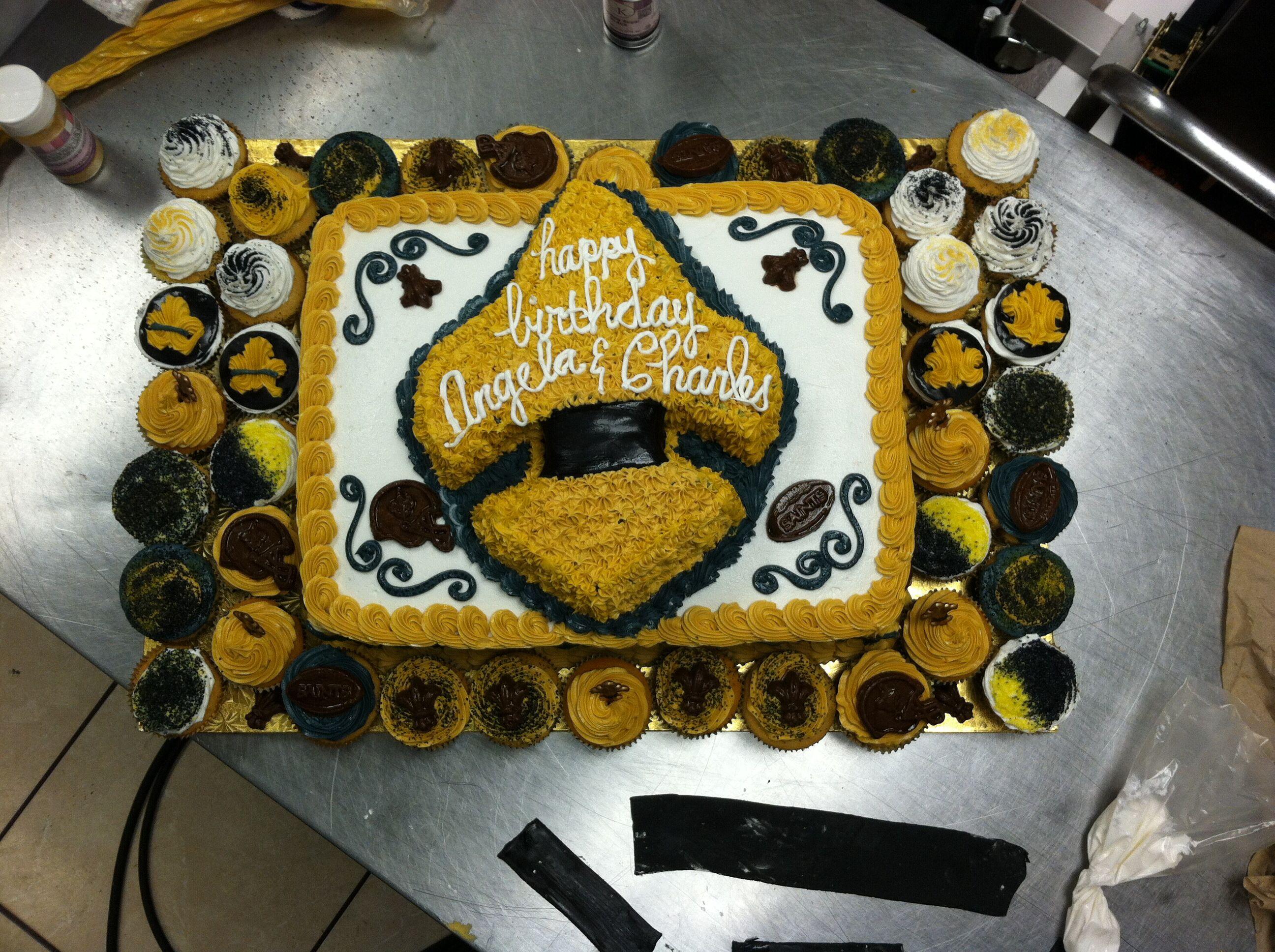 New Orleans Saints Cake   New Orleans Saints Cake   Pinterest ...