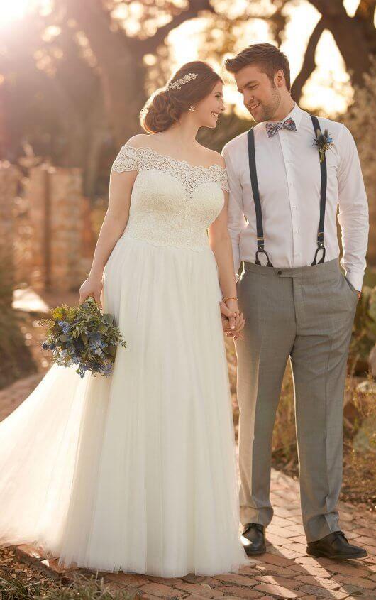 D2446 Breezy Plus Size Beach Wedding Dress By Essense Of Australia