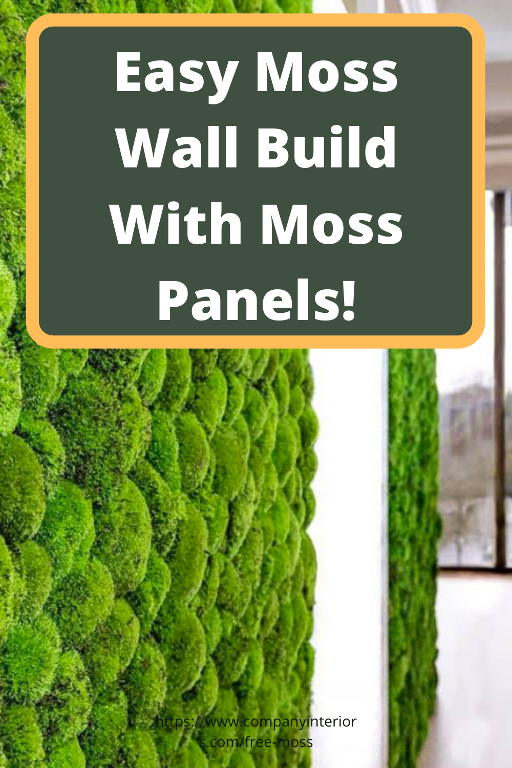 Easy To Make Moss Wall With Pre Made Panels Moss Wall Art Moss Wall Moss Decor