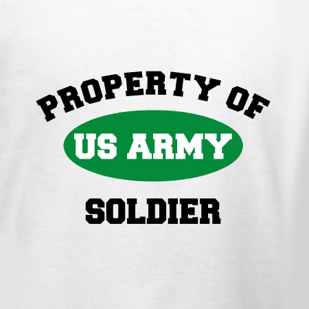 Property Of US Army Soldier Customizable Tshirt Template Design - Property of t shirt template
