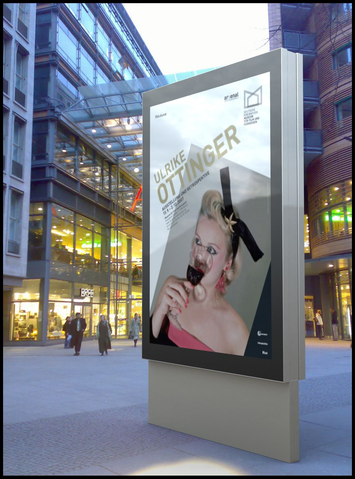 Luxor Double Sided Outdoor light box outdooradvertising