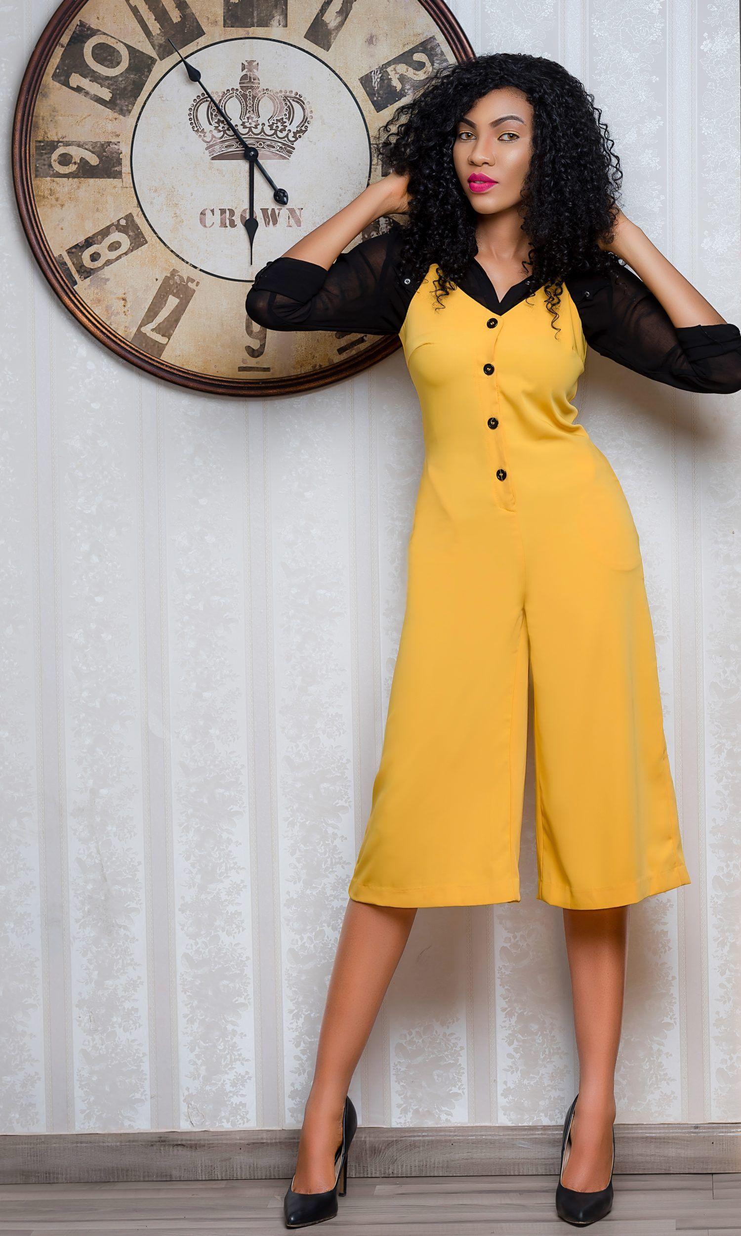 5eeddf5c7b4d Nigerian top fashion blogger in cami wide leg jumpsuit