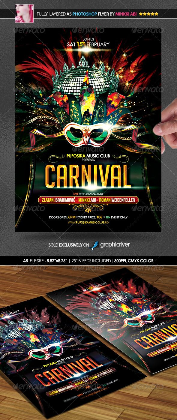 Carnival Party Poster Flyer Party Poster Carnival Party Carnival