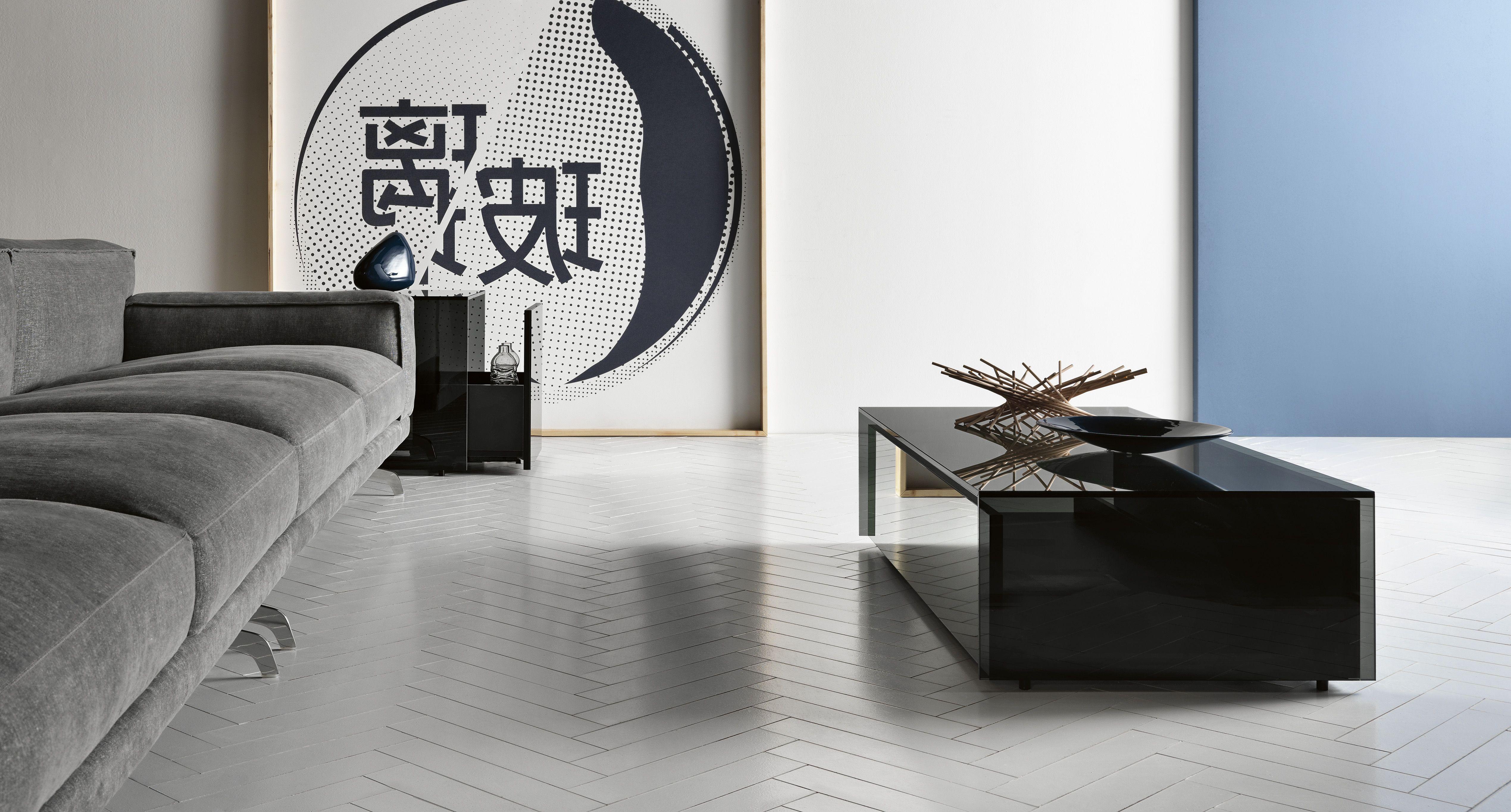 GOTHAM design Leonardi_Marinelli for Tonelli design. Smoked glass ... - GOTHAM design Leonardi_Marinelli for Tonelli design. Smoked glass low table  with drawer.