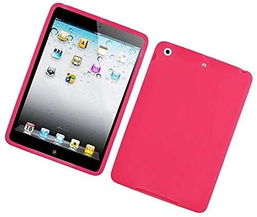 """Deep Magenta Pink {Matte Modern Plain} Soft and Smooth Silicone Cute 3D Fitted Bumper Back Cover Gel Case for iPad Mini 1, 2 and 3 by Apple """"Durable and Slim Flexible Fashion Cover with Amazing and Creative Cartoon Design - All Ports Accessible"""" mySimple Products http://www.amazon.com/dp/B00WL7A4CE/ref=cm_sw_r_pi_dp_nulCwb0HD5CFE"""