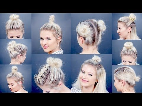 10 Different Hairstyles for Short Hair: Bun Edition! - Blissed Hub