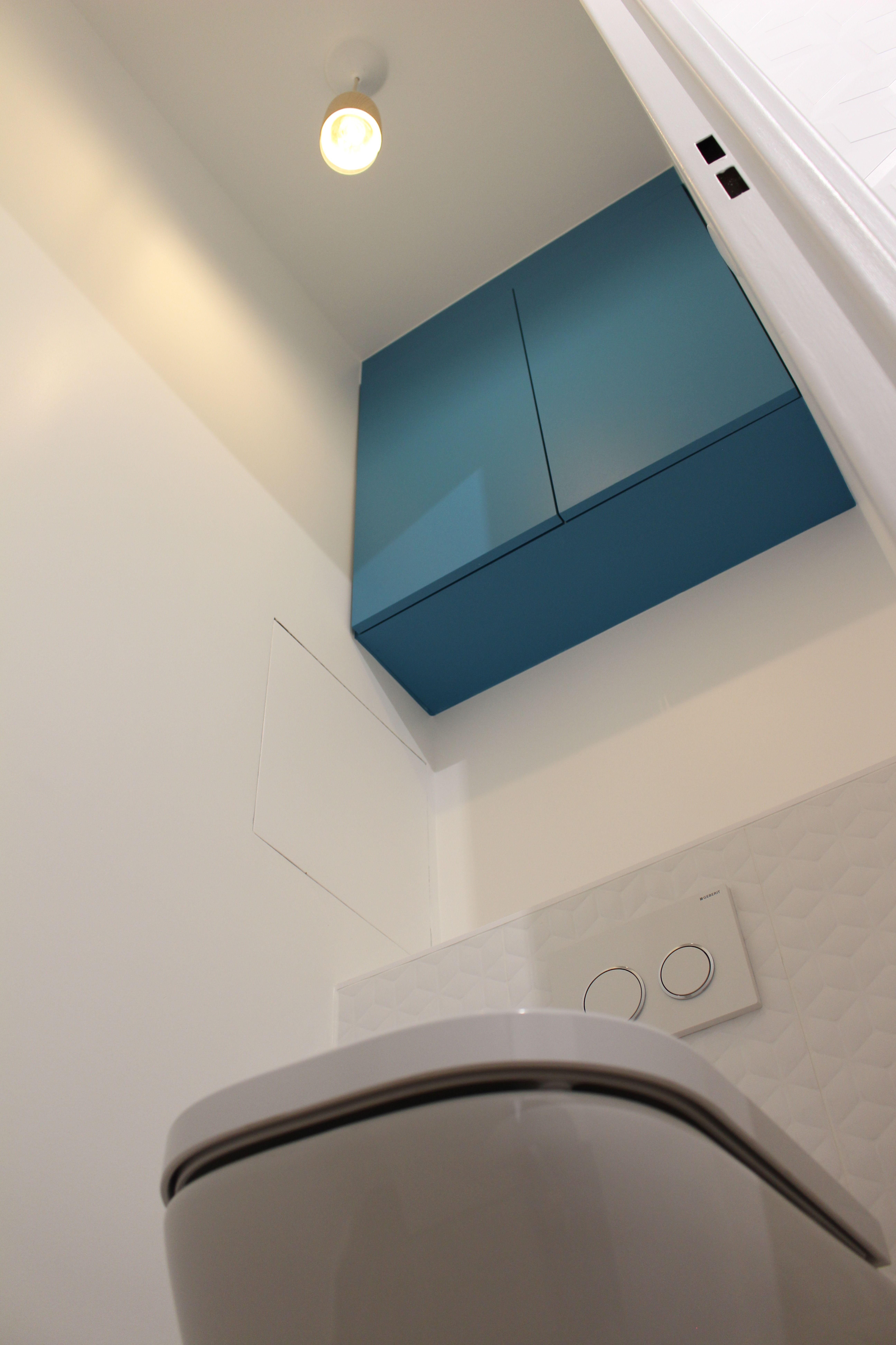 Décorateur D Intérieur Val D Oise wc rénové par nuance d'intérieur. #wc #wcsuspendue #toilette
