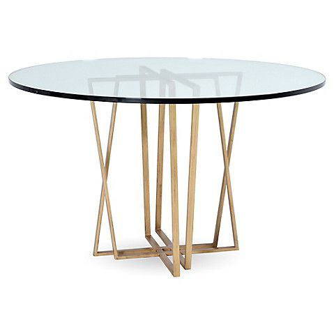 Crosby Dining Table Brass Glass 1 295 00 Dining Table Glass