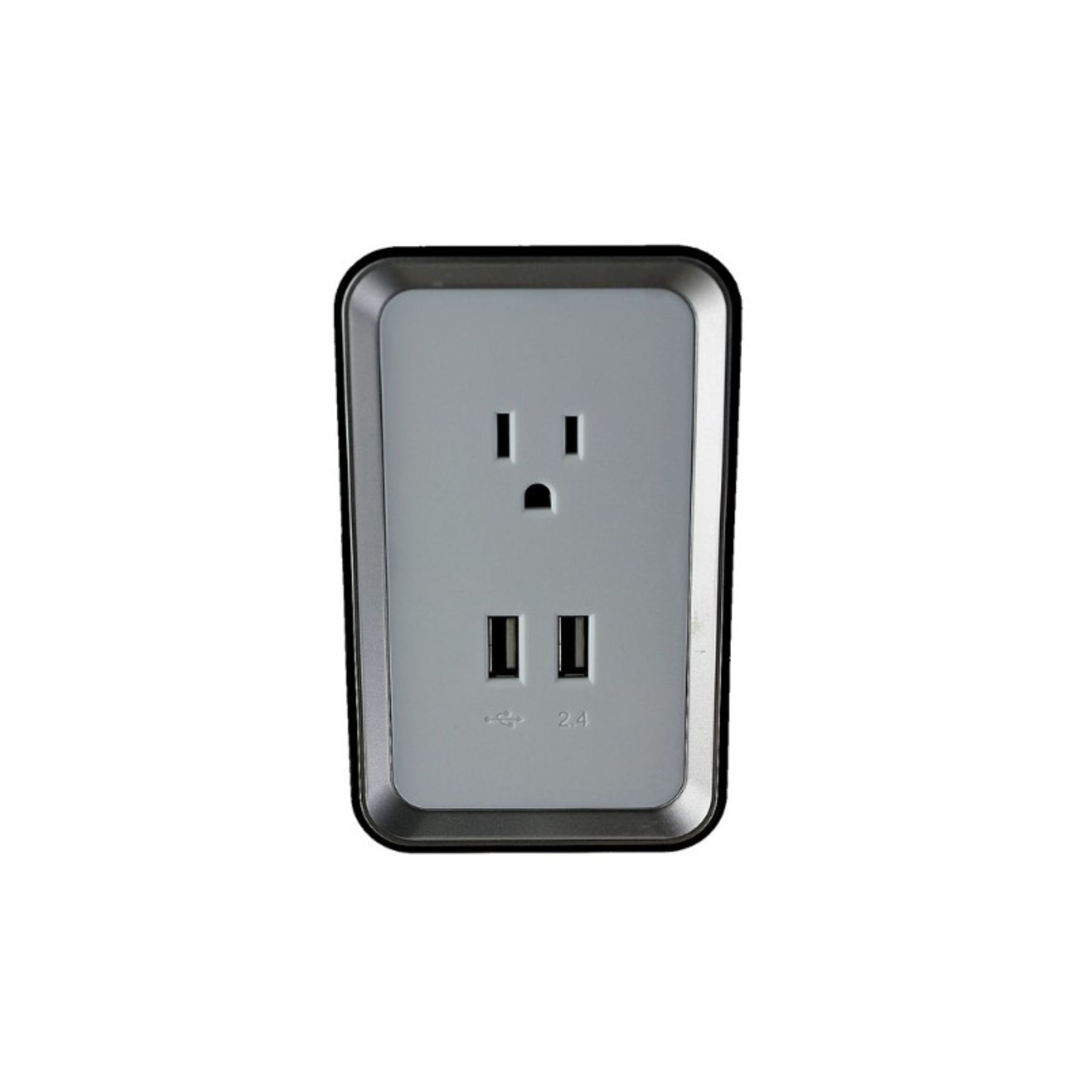 Sharper Image Usb Wall Plate Charger W 2 Usb Ports Item Is