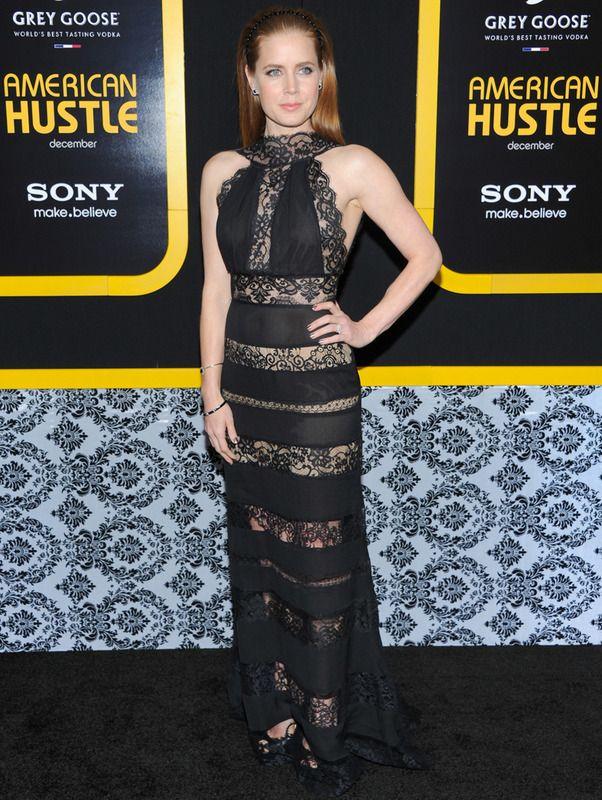 Amy Adams, la mejor vestida de la semana de encaje negro de Elie Saab