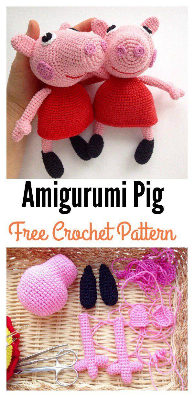 Crochet Amigurumi Pig Free Patterns | Patrones amigurumi, Patrones ...