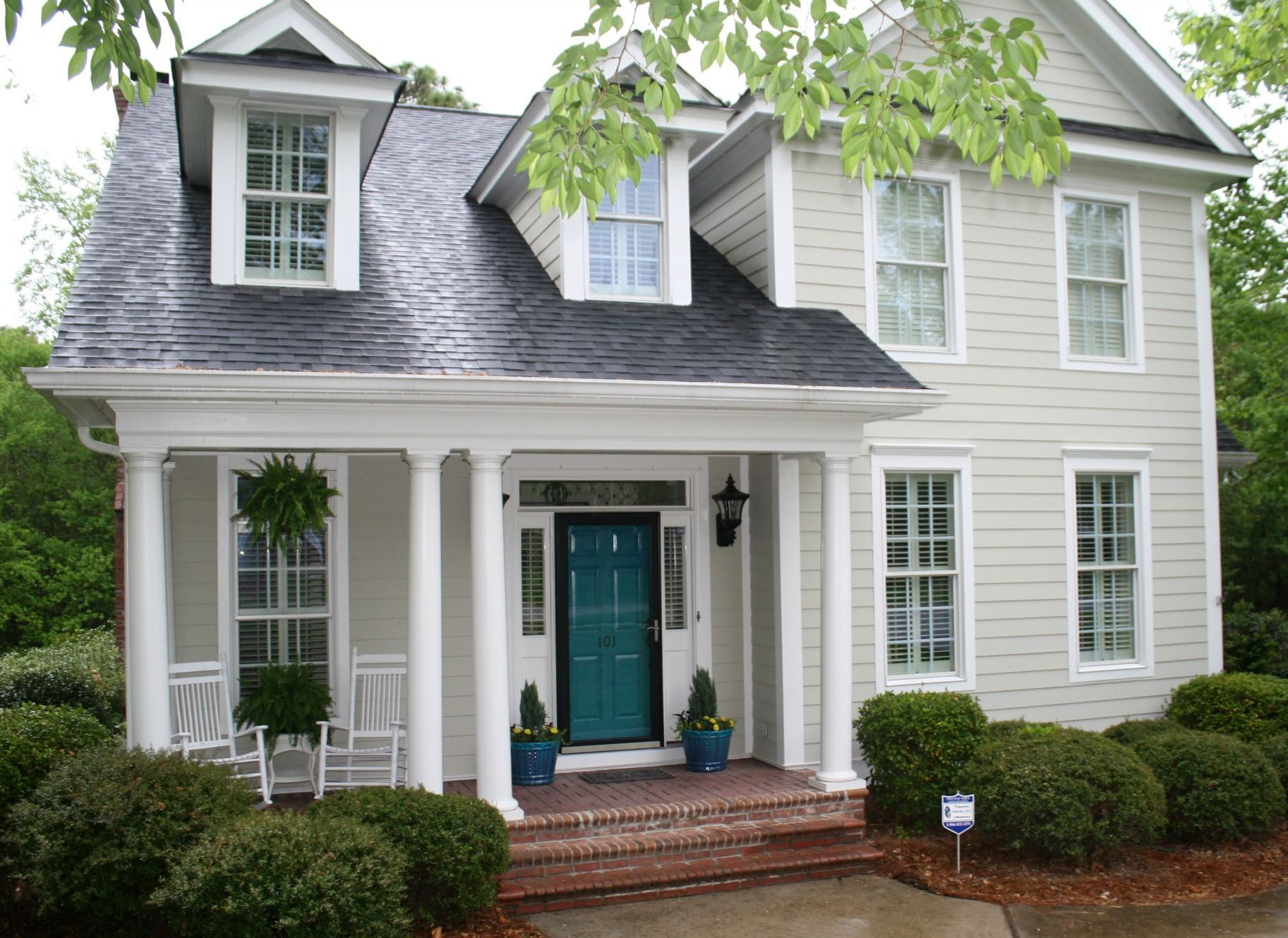 behr essential teal front door amy spencer interiors in on behr exterior house paint photos id=91386