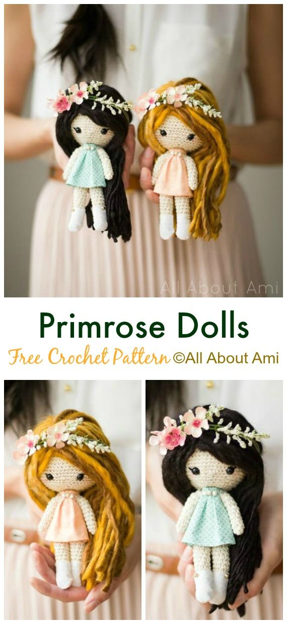 30 Amigurumi Crochet Doll Toys Free Patterns #crochetdoll