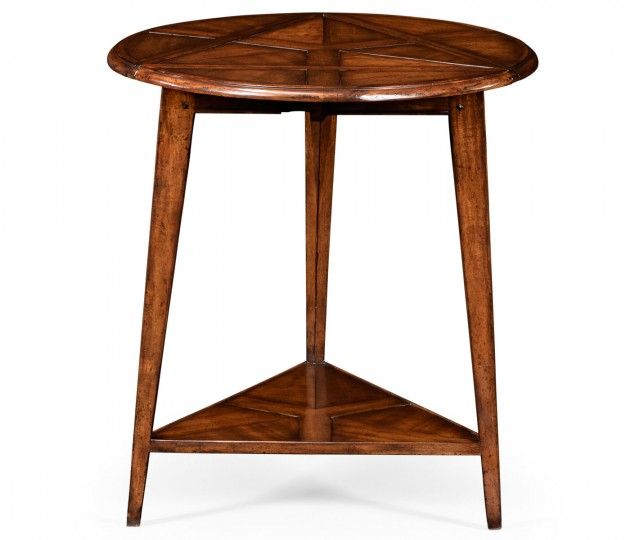 Walnut cricket table #JonathanCharles #Countryfarmhouse #Furniture #InteriorDesign #Hpmkt #Decorex