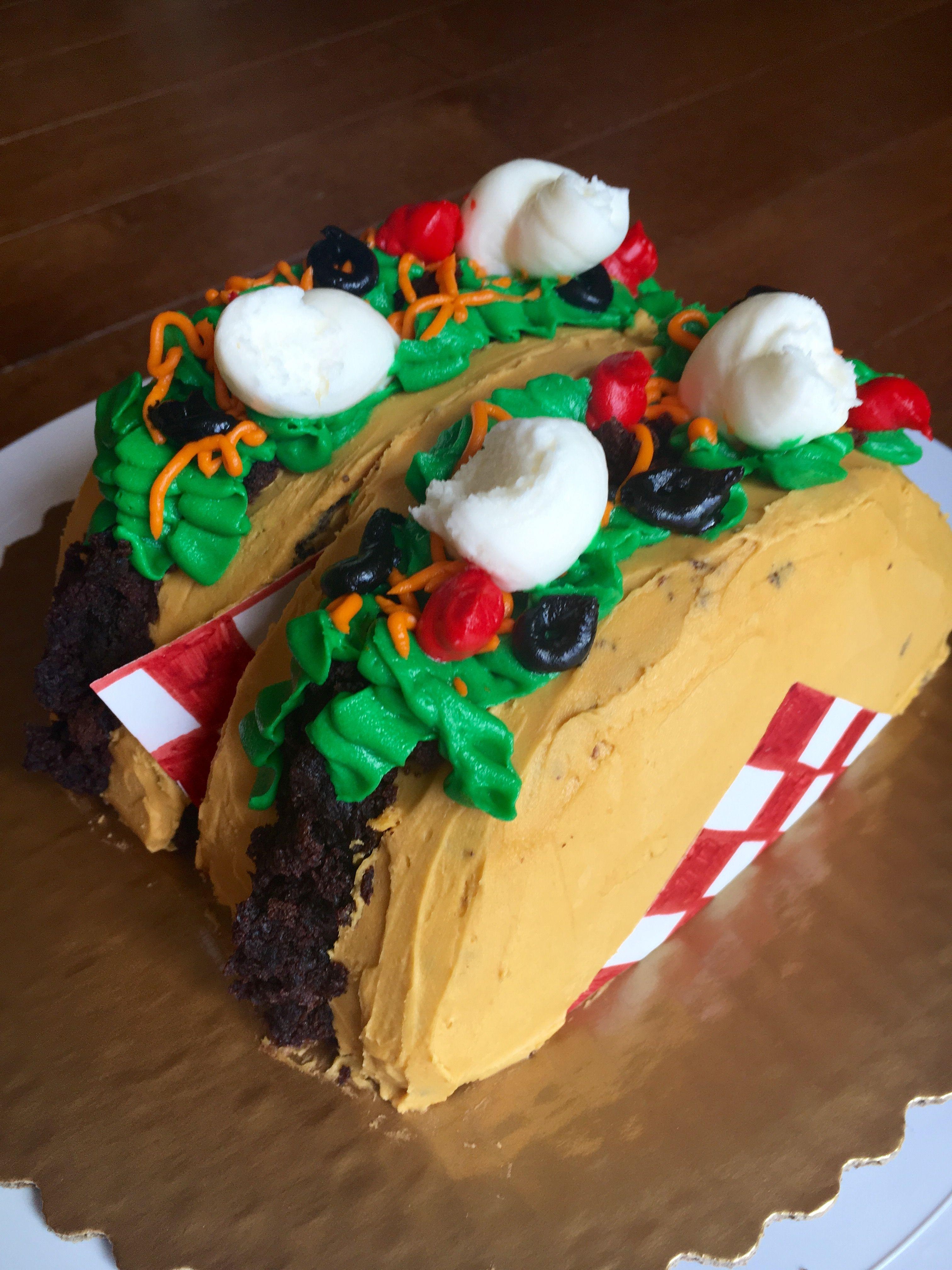 Taco Birthday Cake Tacobirthdaycake Let Them Eat Cake