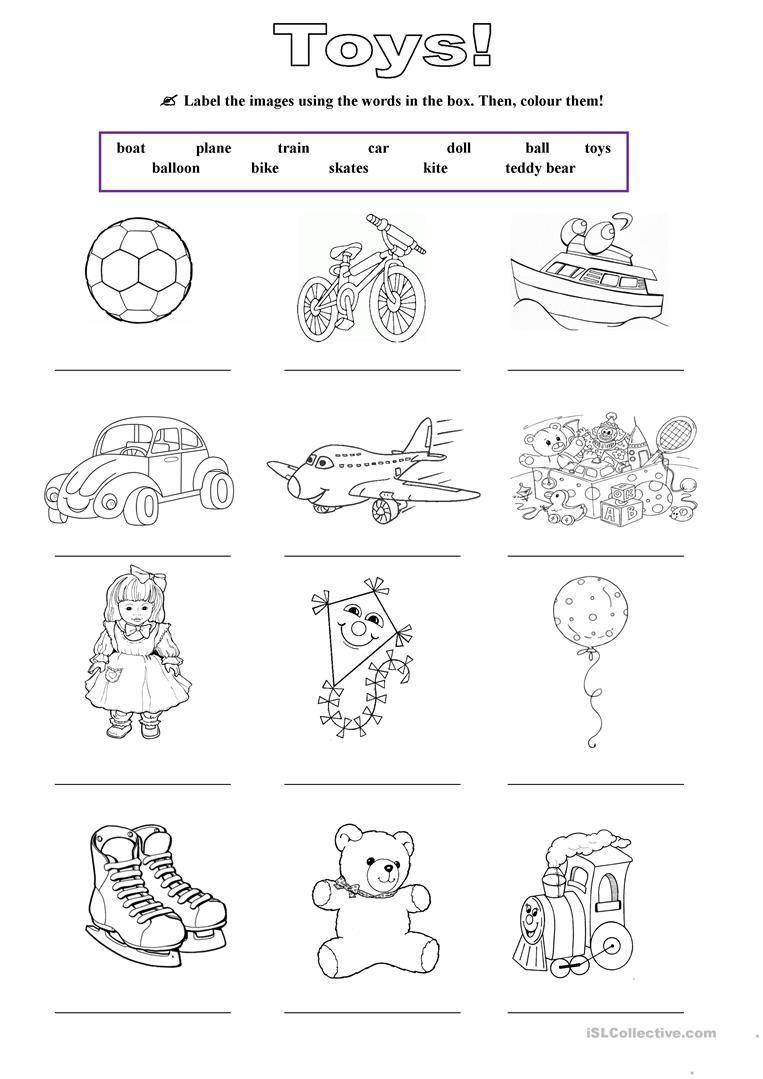 Toys Worksheet Free Esl Printable Worksheets Made By Teachers English Worksheets For Kids English Activities For Kids Worksheets For Kids My toys worksheet for kindergarten