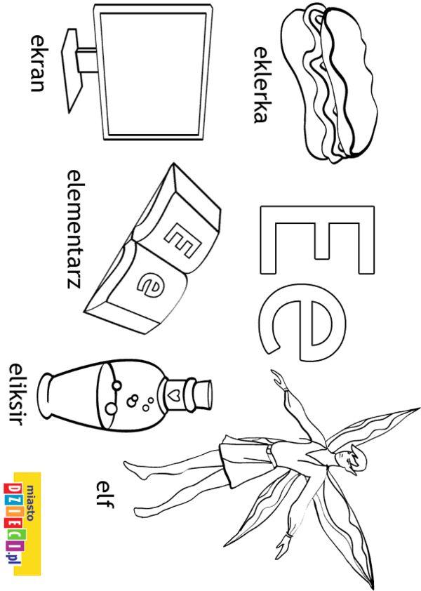 Alfabet Kolorowanki Dla Dzieci Alfabet
