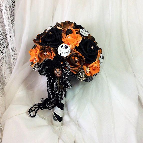 Tim Burton\u0027s Nightmare before Christmas Wedding Flower Bouquet-Jack
