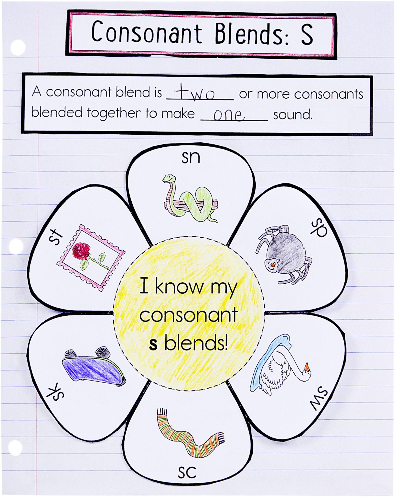 Consonant Blends Worksheets 1st Grade