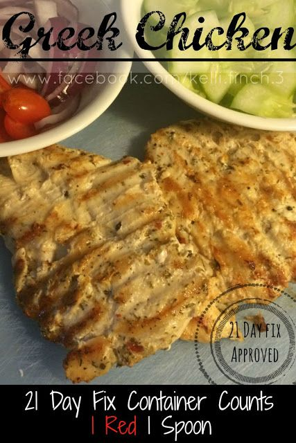 Fit Foodie Forever: Greek Chicken, 21 Day Fix Recipes, Clean Eating Recipes, Grilled Chicken Recipes