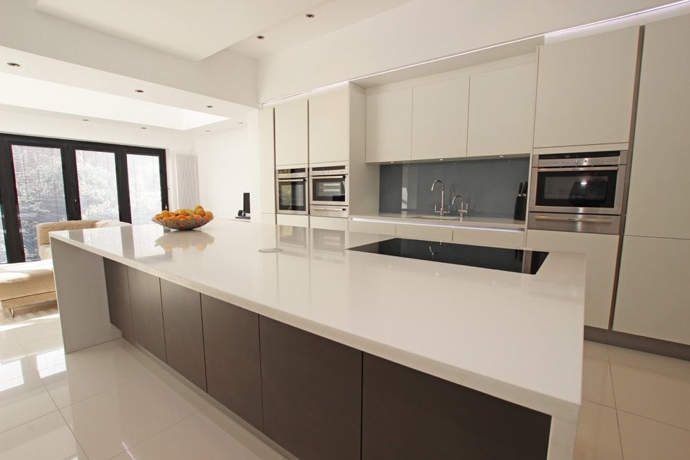 Matt laminate anthracite kitchen island kitchen ideas pinterest