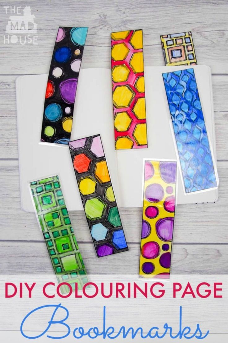 3 Easy Diy Storage Ideas For Small Kitchen: DIY Colouring Page Bookmarks