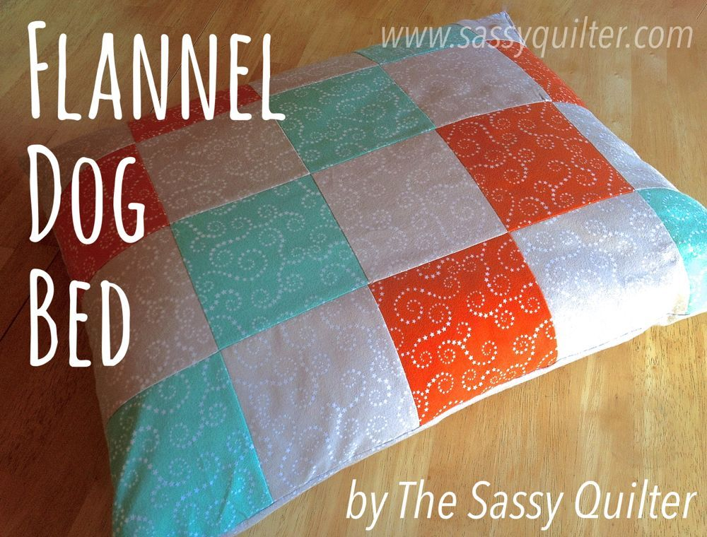 Dog Bed-pillow-5.5 blocks-20x25in.-sassyquilter.com- Riley Blake ...