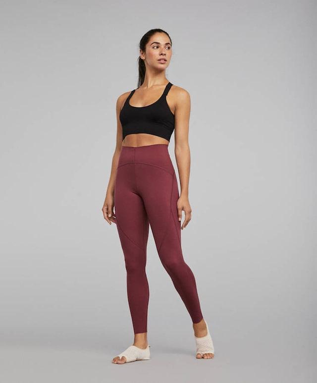 Sport Femmes Leggings Capri Pantalon Coloré 7//8 Fitness Pants Cropped Gym Entraînement