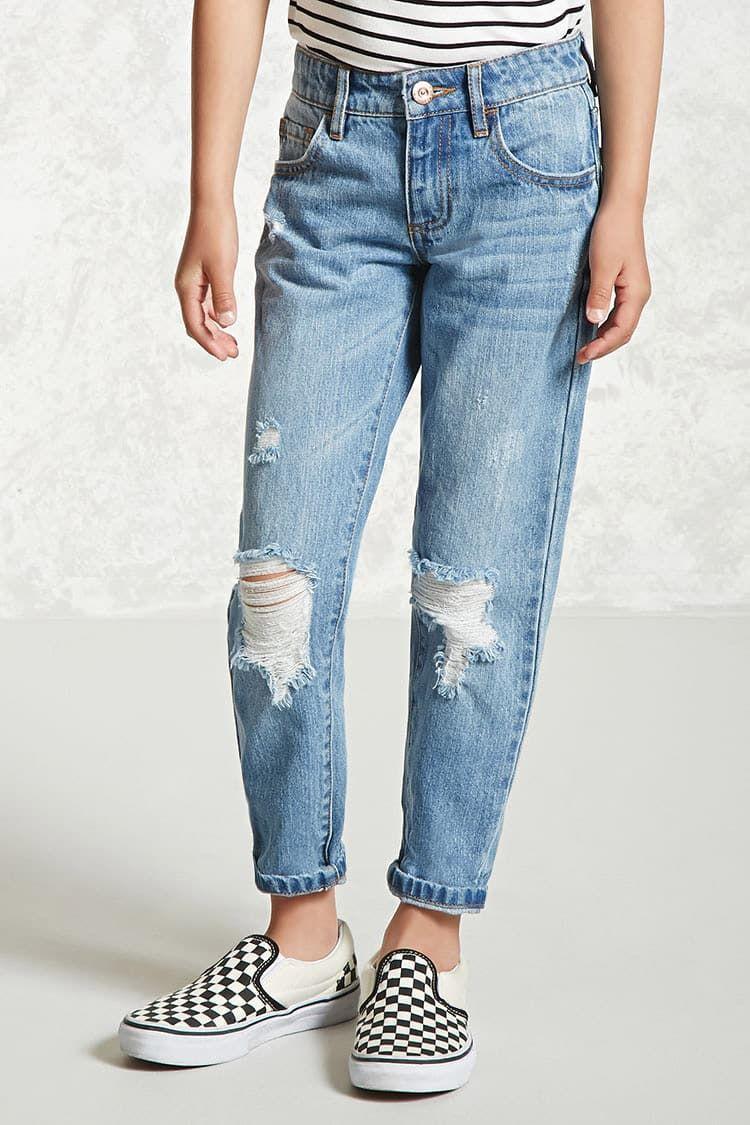 Jeans Desgastados Ninas Pantalones Faldas 2000218228 Forever 21 Eu Espanol Pantalones Para Ninos Forever 21 Pantalones